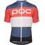 POC Essential Road Logo Kortärmad cykeltröja orange/blå